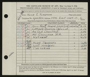 Entry card for Kingman, Alice E. for the 1946 May Show.