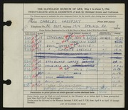 Entry card for Lakofsky, Charles  for the 1946 May Show.