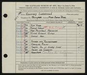 Entry card for Landesman, Geoffrey, and Caxton Company for the 1946 May Show.