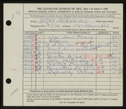 Entry card for Manning, Wray for the 1946 May Show.