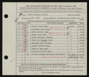 Entry card for Miller, Carol Hagaman for the 1946 May Show.