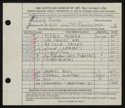 Entry card for Morris, Louise for the 1946 May Show.