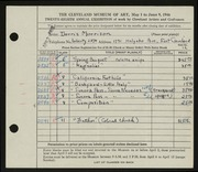 Entry card for Morrison, Doris C. for the 1946 May Show.