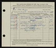 Entry card for Mosgo, Ethel G. for the 1946 May Show.