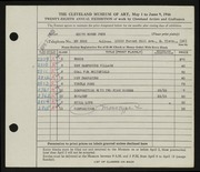 Entry card for Peck, Edith Hogen for the 1946 May Show.