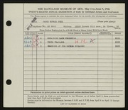 Entry card for Peck, James Edward for the 1946 May Show.