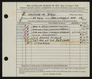 Entry card for Ross, George M. for the 1946 May Show.