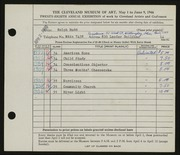 Entry card for Rudd, Ralph for the 1946 May Show.