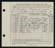 Entry card for Salle?e, Charles L., Jr. for the 1946 May Show.