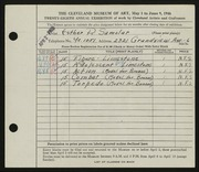 Entry card for Samolar, Esther R. for the 1946 May Show.
