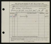 Entry card for Schnitzbauer, William for the 1946 May Show.