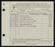 Entry card for Sietman, Herbert E., Jr. for the 1946 May Show.