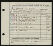 Entry card for Smith, Dorman H. (Dorman Henry) for the 1946 May Show.