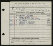 Entry card for Stoll, Rolf for the 1946 May Show.