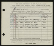Entry card for Stumpf, Marie E. for the 1946 May Show.