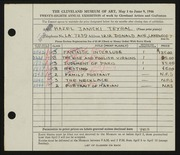 Entry card for Janicki, Hazel for the 1946 May Show.