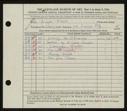 Entry card for Tholl, Joseph for the 1946 May Show.
