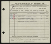 Entry card for Van Fleet, Katharine for the 1946 May Show.