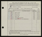 Entry card for Whitney, Gerald C. for the 1946 May Show.
