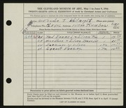 Entry card for Whitright, Gertrude T. for the 1946 May Show.