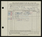 Entry card for Wilcox, Florence Bard for the 1946 May Show.