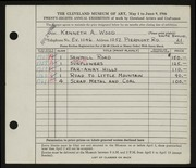 Entry card for Wood, Kenneth A. for the 1946 May Show.