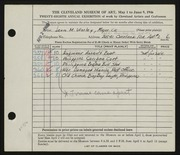 Entry card for Worley, Leon M. for the 1946 May Show.