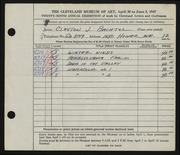 Entry card for Bachtel, Clayton J. for the 1947 May Show.