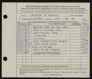 Entry card for Bandel, Lennon R. for the 1947 May Show.