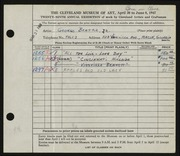 Entry card for Beattie, George for the 1947 May Show.