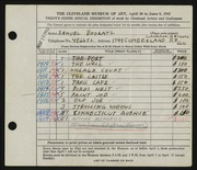 Entry card for Bookatz, Samuel for the 1947 May Show.