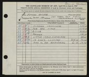 Entry card for Brucker, Edmund for the 1947 May Show.
