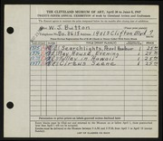 Entry card for Button, William J. for the 1947 May Show.