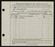 Entry card for Caldwell, Kenneth Roy for the 1947 May Show.