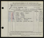 Entry card for Cole, Helen Champney for the 1947 May Show.