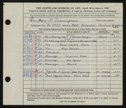 Entry card for Cunningham, Mary Phillips for the 1947 May Show.