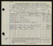Entry card for David, Adeline Wilkens for the 1947 May Show.