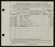 Entry card for De Marco, Marco for the 1947 May Show.