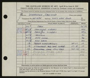 Entry card for Dobrotka, Edward W. for the 1947 May Show.
