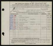 Entry card for Eddy, Elizabeth for the 1947 May Show.