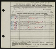 Entry card for Frankel, Godfrey B. for the 1947 May Show.