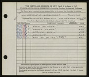 Entry card for Gutschmidt, Normal Paul for the 1947 May Show.