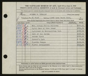 Entry card for Ingalls, Eileen B. for the 1947 May Show.