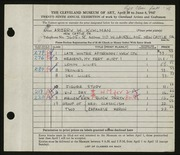 Entry card for Kuhlman, Arbery Wendelburgh for the 1947 May Show.