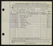 Entry card for MacCreary, Marjorie for the 1947 May Show.