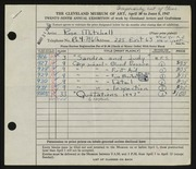 Entry card for Mitchell, Rose for the 1947 May Show.
