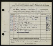 Entry card for Morrison, Doris C. for the 1947 May Show.