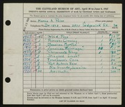 Entry card for Prior, Marna A. for the 1947 May Show.