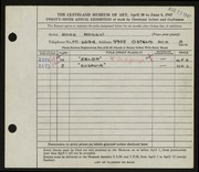 Entry card for Rosen, Rose for the 1947 May Show.