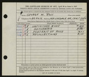 Entry card for Ross, George M. for the 1947 May Show.